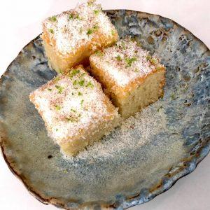 Kokos-Limoen cake met Lemon curd